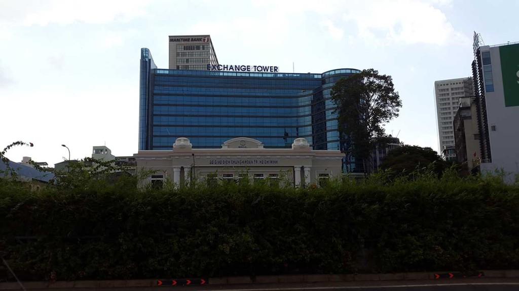 Хошимин - финансовый центр Вьетнама. На фото здание биржы