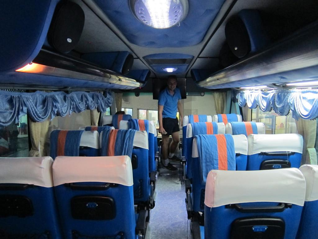Внутри автобуса.