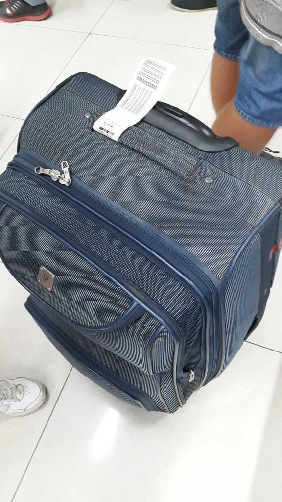 А вот таким мы получили наш багаж назад.