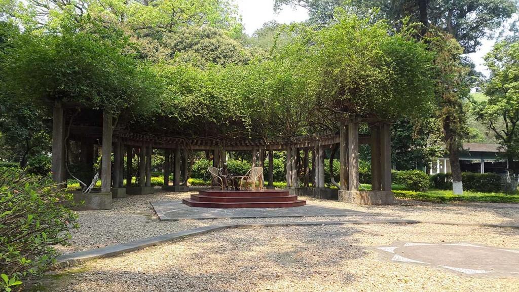 Памятник Хошимину возведен на месте, где он любит проводить время и принимать официальных лиц.