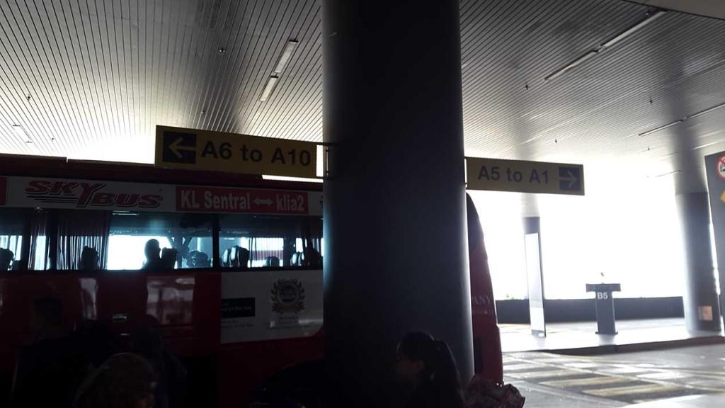 Из аэропорта мы ехали на автобусе.