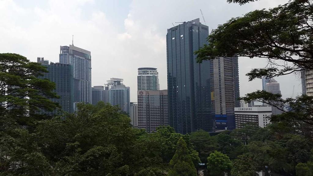 Деловые районы с десятками небоскребов.