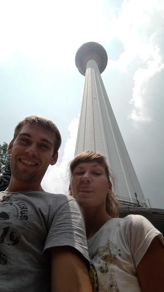 Телевизионная башня Менара, с которой открывается панорамный вид на город.
