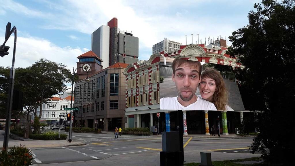 Гуляем и изучаем фишки Samsung для фотографий - тут мы типа на билборде...нда Samsung..