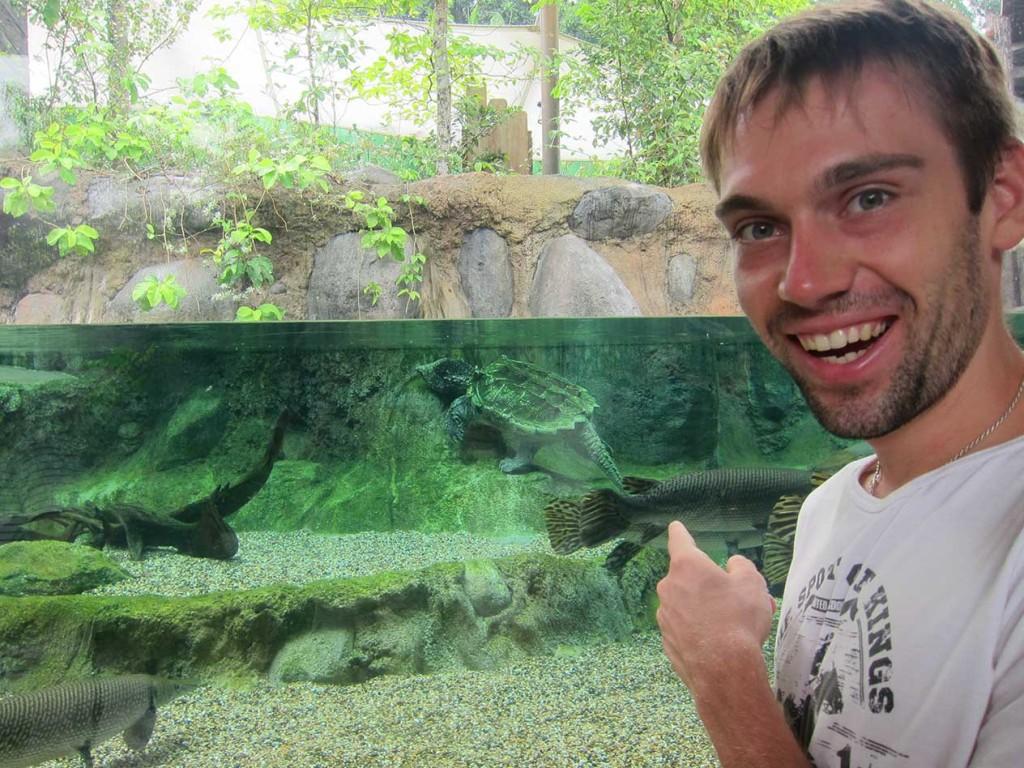 Первый же аквариум у первой реки меня просто поразил.
