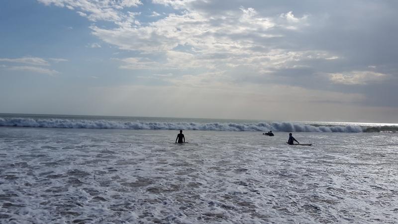 Очень классное и красивое море! На этот раз волны были действительно подходящими для отличной тренировки.