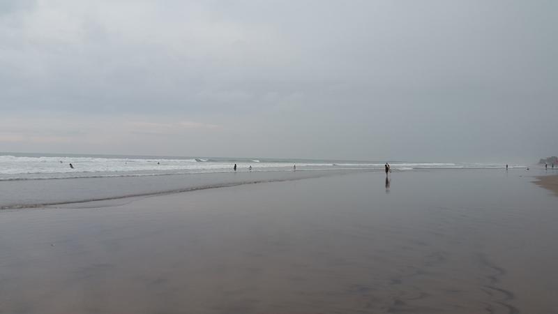 А вот море во время отлива.