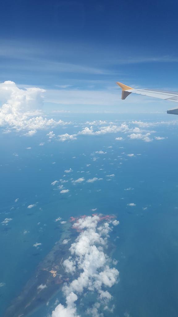 Первый перелет Бали - Сингапур.