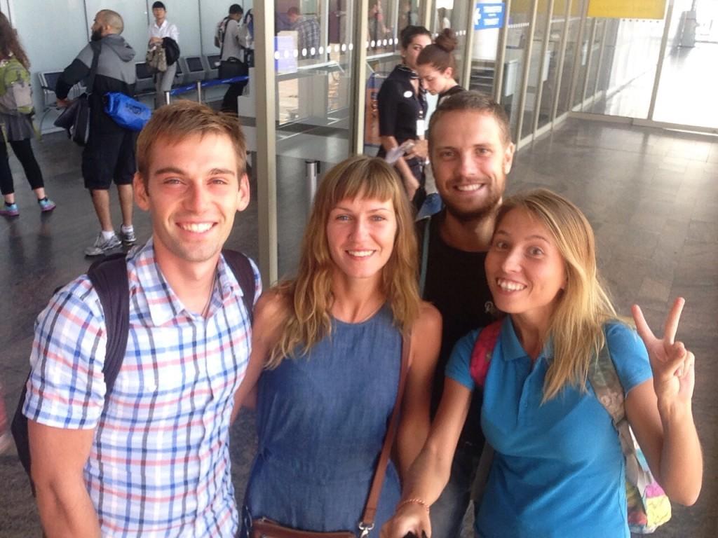 Прощание в аэропорту Шереметьево на камеру.
