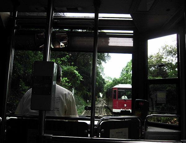 Несколько минут дороги, встречный трамвай.