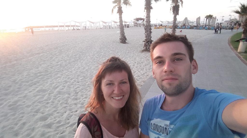 И на конец, пляж. Белый песок и очень много свободного места.