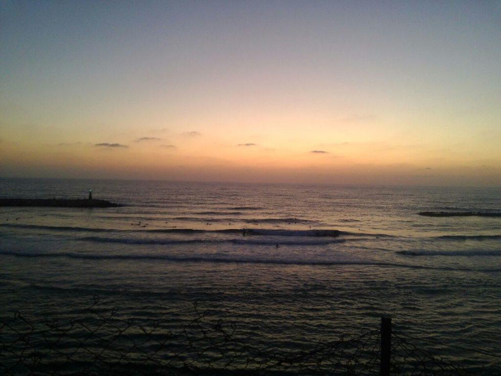 А вот вид на Тель Авивское море